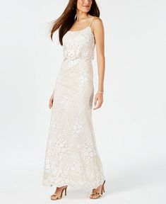 8e90e35d214 Adrianna Papell Sequined Popover Gown - Dresses - Macy s Baby Wedding  Outfit