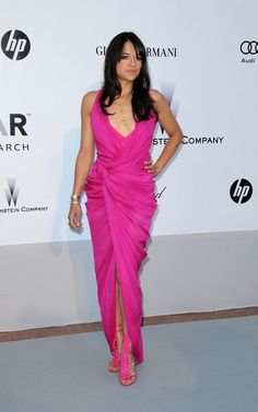 Actress MICHELLE RODRIGUEZ attends annual AmfAR Charity Dinner Gala during 63th Cannes Film Festival | Makeup & Hair by Massimo Serini | Cannes, 21 May 2010