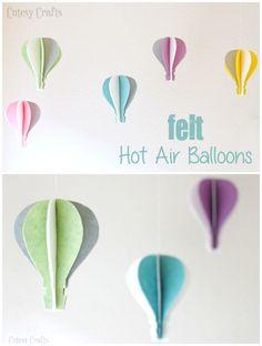 Felt Hot Air Balloon Craft