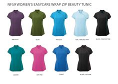 NF59 Women's easycare wrap zip tunic | £18.89 | Beauty & Spa | Clothing For Work
