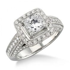 14k White Gold Engagement Ring from Lee Michaels