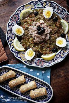 ] Tunisian Grilled Salad with Tuna | Salata Mishwiyya