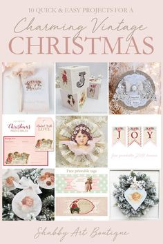 10 quick and easy projects for creating a charming vintage Christmas - from Shabby Art Boutique Christmas Food Gifts, Old Christmas, Christmas Books, Christmas Wishes, Simple Christmas, Christmas Projects, Handmade Christmas, Vintage Christmas, Christmas Decor