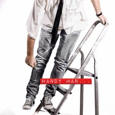 Handyman, man ,work, tie, shirt Parachute Pants, Tie, Photography, Shirts, Fashion, Moda, La Mode, Cravat Tie, Shirt
