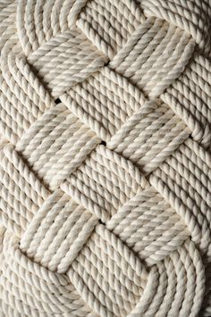 Nautical Bath Mat  Nautical Decor  Cotton Rope Rug  by OYKNOT, $100.00