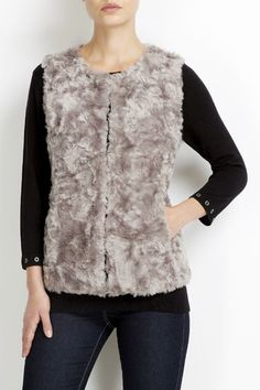 Shop the latest in women's clothing at Wallis. Choose from the latest styles of dresses, coats, tops, trousers, and petite. New Outfits, Winter Outfits, Fur Gilet, Wallis, Autumn Fashion, Fashion Dresses, Trousers, Clothes For Women, Grey