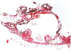 """Vine Loop"" acrylic monotype by Sharon Giles Vines, Arbors, Grape Vines"