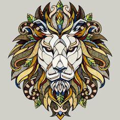 Lion // Animal Poker T Shirt By Studiokauz Design By Humans
