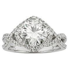 Forever Brilliant Round 9.0mm Moissanite Engagement Ring ...