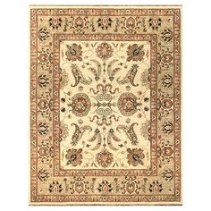 Loloi Rugs Majestic Ivory/Gold Area Rug Rug Size: 3' x 5'