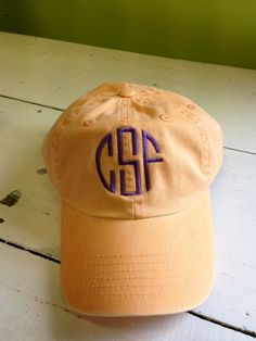 We LOVE our monogrammed baseball hats! Perfect for walking to class, cheering on your favorite team, or out running errands...you can do it all in STYLE! Classic and super preppy, create your own preppy monogrammed hat.