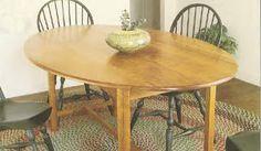 Ah! E se falando em madeira...: mesa de sala