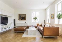 Hannes Wettsteins elegante Delhi-sofaer fra Erik Jørgensen