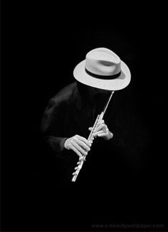 Amazing Black And White Flute Musician Photography