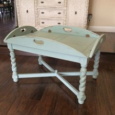 Wood Coffee Table Beach Cottage Butler S Table English Table Cottage Chic Butler S Tray Vintage Coffee Table Nautical Ships Table Rustic