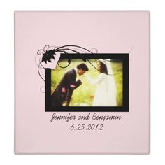 Pink and Black Wedding Photo Album Binders from http://www.zazzle.com/pink+photo+binders