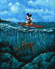 Los Gatos, CA - The premier Los Gatos based fine art gallery is proud to introduce the works of Disney Fine Art artist Trevor Mezak. Disney Love, Disney Mickey, Walt Disney, Disney Stuff, Disney Magic, Godard Art, Disney Prices, Sup Stand Up Paddle, Disney Fine Art