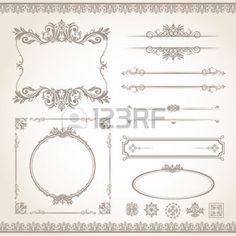 mariage vintage: classique vecteur vieux frame style de vintage set