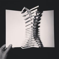 by Paper Modelling Top View. Conceptual Model Architecture, Movement Architecture, Folding Architecture, Architecture Model Making, Architecture Collage, Concept Architecture, Futuristic Architecture, Architecture Design, Folding Structure