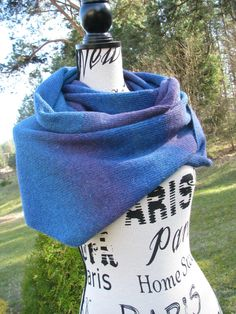 knitted  stylish triangular scarf shawl of high by WoolMagicShop