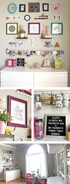 Colorful Craft Room Gallery Wall + $100 Erin Condren Giveaway!
