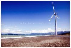 Windmills of Bangui, Ilocos Norte Ilocos, Windmills, Wind Turbine, Philippines, Beach, Water, Outdoor, Norte, Gripe Water
