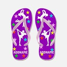 Skater Girl Flip Flops Give the perfect Ice Skater gift with our original personalized Figure Skating Tees and Gifts. http://www.cafepress.com/sportsstar/10189550 #Figureskater #FigureSkating #Iloveskating #Borntoskate #PersonalizedSkater
