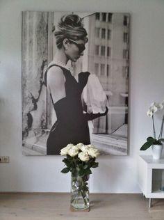 Wall Decoration of Audrey Hepburn