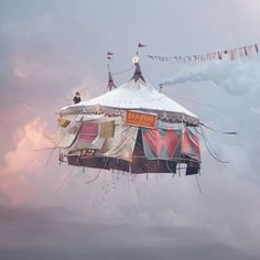 These are not floating homes but kites. French photographer Laurent Chehere flew…