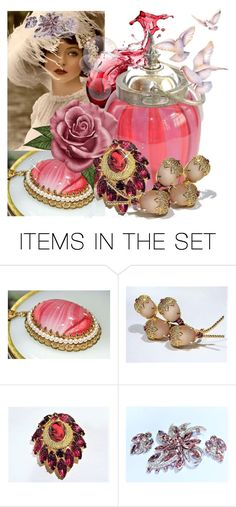 """""""Strawberry Wine"""" by pattysporcelainetc ❤ liked on Polyvore featuring art and vintage"""