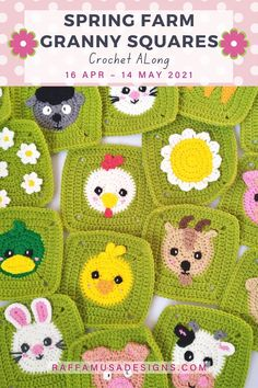 Crochet Cat Pattern, Granny Square Crochet Pattern, Crochet Animal Patterns, Crochet Squares, Stuffed Animal Patterns, Crochet Granny, Crochet Blanket Patterns, Granny Squares, Crochet Motif