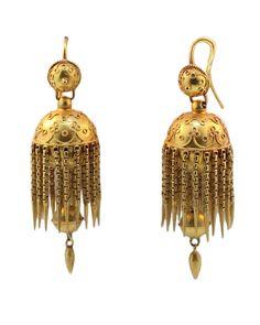 Etruscan Revival Earrings Antique Earrings, Gold Earrings, Antique Jewelry, Vintage Jewelry, Diamond Jewelry, Gold Jewelry, Jewelry Rings, Ancient Jewelry, Tribal Jewelry