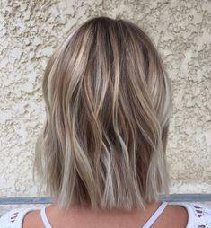 Fun twists & textured tips on one-length bob for fine hair #balayageombre #balayage #hair #hairstyles #haircolor #twists #texture #bobcut #bobhairstyle