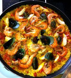 Recetas Sencillas: Paella Marinera Vegetable Pizza, Dishes, Vegetables, Ethnic Recipes, Food, Meal, New Recipes, Simple, Art