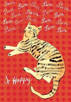 Andy Warhol, cat orange so happy Pittsburgh, Illustrations, Illustration Art, Johannes Itten, Andy Warhol Pop Art, Andy Warhol Quotes, Photo Star, Cat Colors, Famous Artists