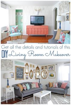 DIY Living Room Makeover - www.classyclutter.net