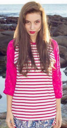 Striped Raglan Top by TamtrumClothing on Etsy, £14.82