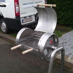 Custom Bbq Smokers, Custom Bbq Pits, Fire Pit Backyard, Backyard Bbq, Grillin And Chillin, Beer Keg, Bbq Kitchen, Grill Design, Rocket Stoves