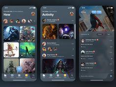 Unique and modern new UI Kit. Infinite designed for iPhone X in Figma. Absolutely vector shapes for retina. Android App Design, App Ui Design, Interface Design, Ui Portfolio, Software Apps, App Design Inspiration, Design Ideas, Mobile Web Design, Music App