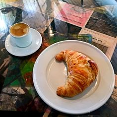 Treat Yourself With Croissant Sandwiches  18 pics  Breakfast double espresso and croissant