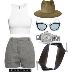 Untitled #1541 by stylebyteajaye on Polyvore featuring polyvore fashion style Alexander Wang Clyde Fendi H&M Rolex