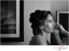 Denver Supreme Court Wedding. Bride Getting Ready. Makeup. Details. Finishing Touches. Black and White Wedding Photography. Indoor Wedding.