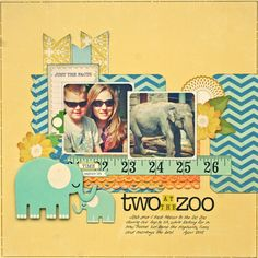 The Scrappiest galleries, zoo layout, pea, the zoo, bucket, scrappi, scrapbook photo, scrapbook layout, zoos