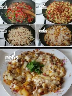 How to make Breakfast Cheese Pan Recipe? Breakfast Lunch Dinner, Breakfast Items, Turkish Recipes, Ethnic Recipes, Yummy Food, Tasty, How To Make Breakfast, Pizza, Food And Drink