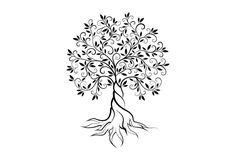 Olive tree vector logo concept by provector on Creative Market - Diana Brucker - Olive Tattoo, Olive Tree Tattoos, Tattoo Life, Tree Outline, Roots And Wings, Tree Tattoo Designs, Geniale Tattoos, Tree Illustration, Graphics