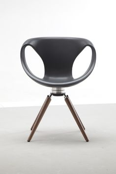 Up Chair with Black Walnut legs by Martin Ballendat for the Tonon collection at Sandler Seating.