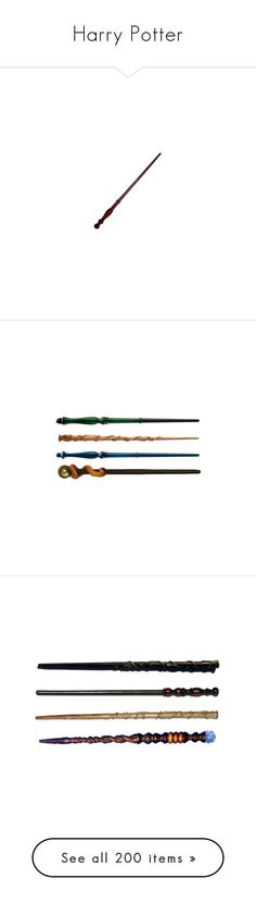 """""""Harry Potter"""" by heavymetalvampirequeen ❤ liked on Polyvore featuring wands, harry potter, hogwarts, accessories, hp, fillers, weapons, misc, magic and decor"""