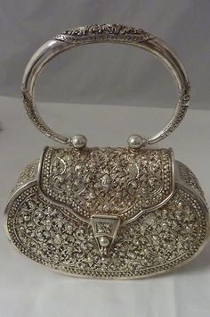 Vintage sterling silver handbag