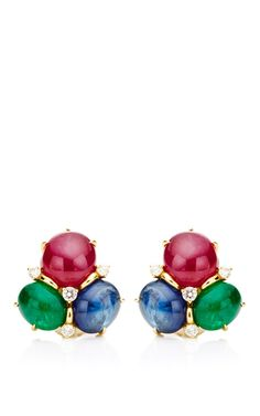 Cabochon Earrings In Precious Stones by Seaman Schepps for Preorder on Moda Operandi
