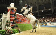 12 of the world's biggest rider frighteners: The puissance wall. See all 12 fences at  http://www.horseandhound.co.uk/features/scary-horse-fences-473630#y3ukjlyDpCYovzYJ.99